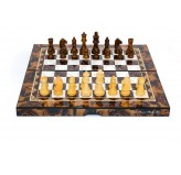 "Dal Rossi Mosai Finish Folding Chess Set, 16"" NEW"