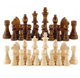 Chess Pieces - Wooden in a Poly Bag