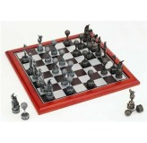 Hand Paint Chess Set - Gofer Chess Theme with 75mm pieces, 45cm With Board