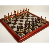 """Hand Paint Chess Set - """"Battle of Waterloo"""" Theme with 75mm pieces, 45cm With Board"""