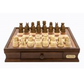 Dal Rossi Chess/check, box/board, medieval, walnut, 16""