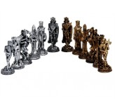 Dal Rossi Italy, Medieval Pewter GA Chessmen