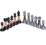 Dal Rossi Italy, Staunton Metal/Marble Finish Chessmen