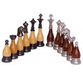 Dal Rossi Italy, Staunton Metal/Wood Chessmen