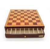 "Dal Rossi Italy, Chess Box Only with Drawers 18""  Shiny Mahongany Finsh"