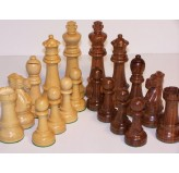 Chess Pieces - Jumbo Boxwood/Sheesham150mm Wood Double Weighted