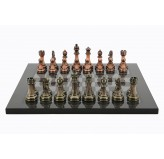 Dal Rossi Italy Antique Chess Pieces on Carbon Chess Board 40cm