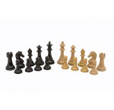 Dal Rossi Italy Dark Red Wood Grain Finish  and Box Wood Grain Finish Weight  pieces110mm Chess Pieces ONLY
