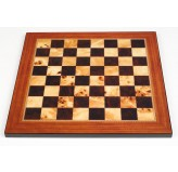 Dal Rossi Italy Walnut Shiny Finish Chess Board 50cm