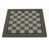 Dal Rossi Italy Gold / Silver Chess Pieces on Carbon Fibre Finish Chess Board 50cm