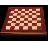 Dal Rossi Chess board, Mahogany/Maple, 50cm Chess Board