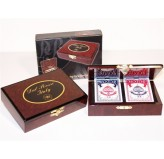 Dal Rossi card box wood with 2 packs of Playing cards one Card BOX only