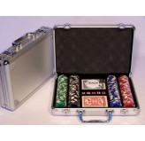 Casino Chips & Accessories - Poker chips 200pc aluminium att case 11.5gm