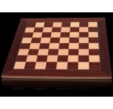 Dal Rossi Chess board, Palisander/Maple, 50cm Chess Board