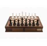 "Dal Rossi Italy Chess Set 20"", With Black & White Weighted Chess Pieces 101mm pieces"