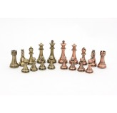 Dal Rossi Italy Bronze and Copper Weight  Chess pieces110mm Chess Pieces ONLY