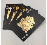 Dal Rossi Italy Luxury Black Playing Cards and Gold & Silver Plated writing.