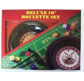 """Roulette & Blackjack - Roulette, mats chips & rake , 10"""""""