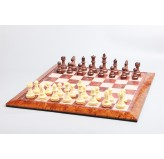 Magnetic Games - Magnetic Chess SET, Brown/White 16""