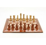 Magnetic Games - Magnetic Chess/Checkers, Brown/White 16""