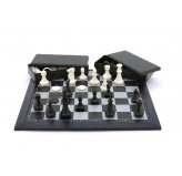 Magnetic Games - Magnetic Chess/Checkers, Black 16""