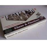 Magnetic Games - Magnetic Chess/Checkers 12""