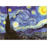 Enigma Brand 1000pc Jigsaw - The Starry Night  (Made From 100% High Quality European Blue Board From Holland)