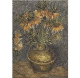 Enigma Brand 1000pc Jigsaw - Imperial Fritillaries in a Copper Vase  (Made From 100% High Quality European Blue Board From Holland)