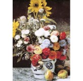 Enigma Brand 1000pc Jigsaw - Vase Of Flowers (Made From High Quality European Blue Board)