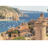 Enigma Brand 1000pc Jigsaw - Tossa de mar costa Brava Spain  (Made From 100% High Quality European Blue Board From Holland)