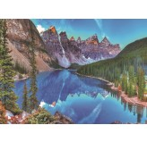 Enigma Brand 1000pc Jigsaw - moraine lake sunset banff national park  (Made From 100% High Quality European Blue Board From Holland)
