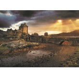 Enigma Brand 1000pc Jigsaw - Eilean Donan Castle Scotland  (Made From 100% High Quality European Blue Board From Holland)
