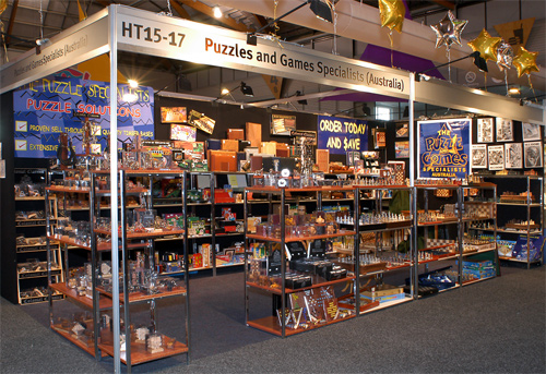 Puzzles and Games stand
